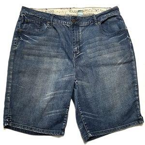 Zana DI High Rise Denim Shorts